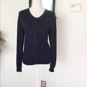 Lilly Pulitzer Navy Blue Button Down Cardigan